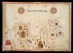 Portolan Chart of Western Europe Showing the British Isles f. 10
